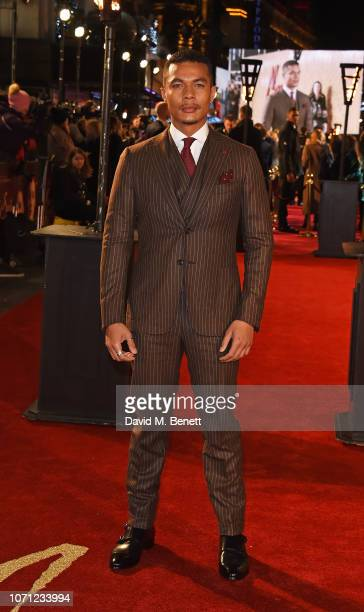 Ismael Cruz Cordova attends the European Premiere of Mary Queen Of Scots at Cineworld Leicester Square on December 10 2018 in London England