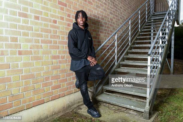 Ismael DOUKOURE during a photosession on April 15, 2021 in Paris, France.