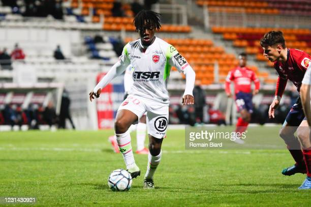Ismael DOUKOURE of Valenciennes during the Ligue 2 BKT match between Clermont and Valenciennes on February 27, 2021 in Clermont-Ferrand, France.