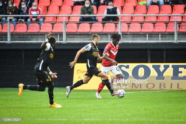 Ismael DOUKOURE of Valenciennes during the Ligue 2 match between Valenciennes and Sochaux at Stade du Hainaut on October 17, 2020 in Valenciennes,...