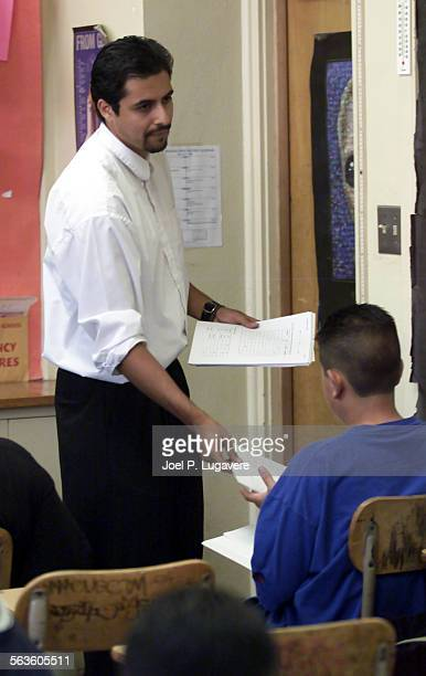 Ismael Jimenez Teaches a science class at San Fernando High School Many students at San Fernando High School do not seem to care too much about...