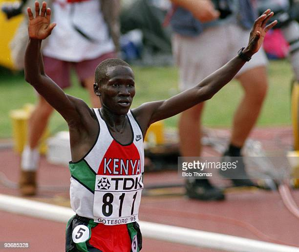 Ismael Kirui of Kenya winner of the men's 5000m final at the 5th World Athletics Championships held in Gothenburg Sweden August 1995