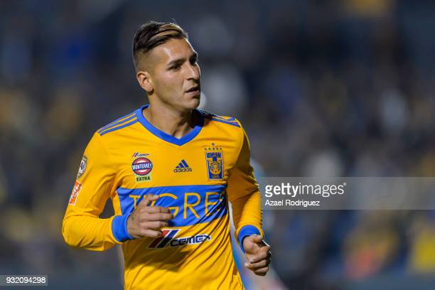 Ismael Sosa of Tigres looks on during the quarterfinals second leg match between Tigres UANL and Toronto FC as part of the CONCACAF Champions League...