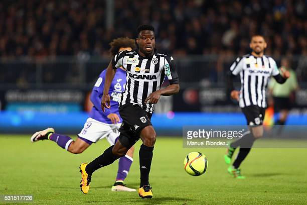 Ismael Traore of Angers during the football french Ligue 1 match between Angers SCO and Toulouse FC on May 14 2016 in Angers France