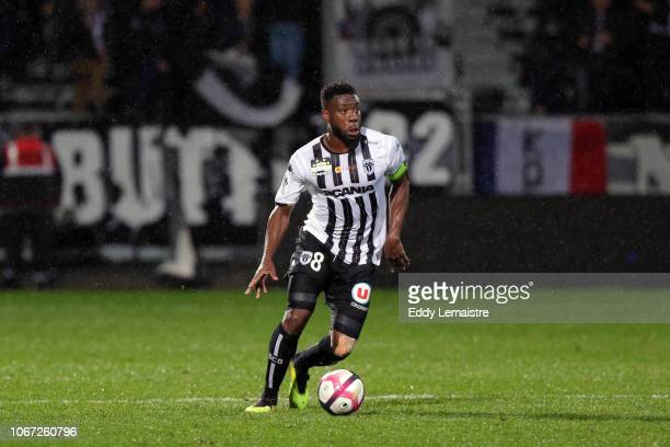 Ismael Traore of Angers during the French Ligue 1 match between Angers SCO and SM Caen on December 1 2018 in Angers France