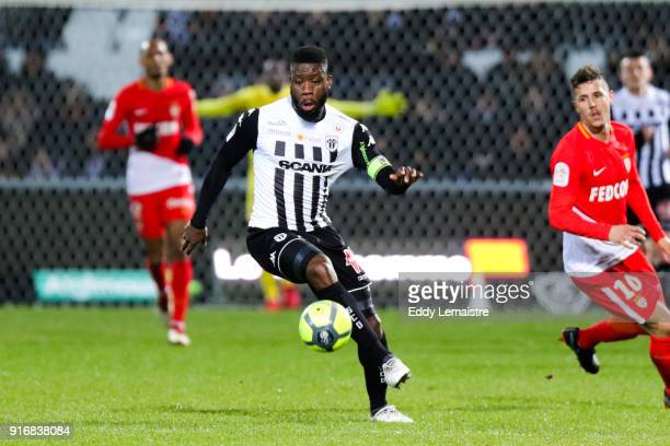 Ismael Traore of Angers during the Ligue 1 match between Angers SCO and AS Monaco at Stade Raymond Kopa on February 10 2018 in Angers