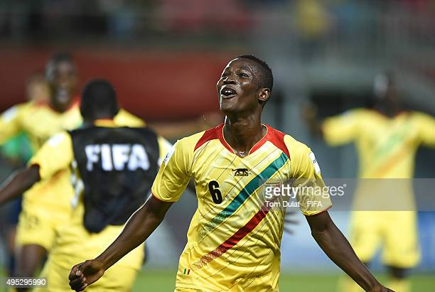 Ismael Traore of Mali celebrates after the FIFA U17 World Cup Chile 2015 quarter final match between Croatia and Mali at Estadio Nelson Oyarzun...