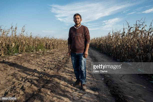 Ismail AlAhmad a 31 years old archeology teacher from the city of Amuda located in the Kurdish region of Rojava Syria poses for a portrait photograph...