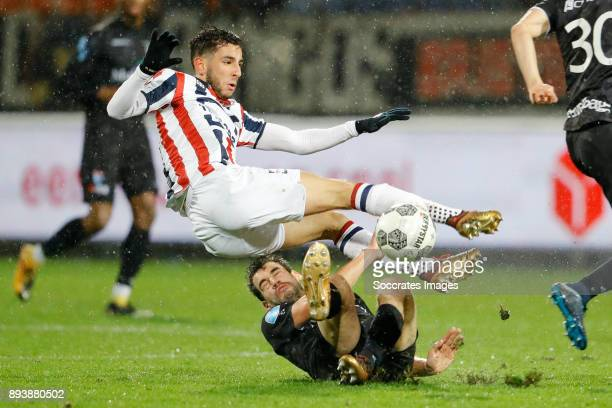 Ismail Azzaoui of Willem II Dirk Marcellis of PEC Zwolle during the Dutch Eredivisie match between Willem II v PEC Zwolle at the Koning Willem II...