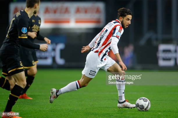 Ismail Azzaoui of Willem II during the Dutch Eredivisie match between Willem II v AZ Alkmaar at the Koning Willem II Stadium on January 28 2018 in...