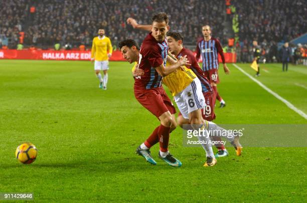 Ismail Koybasi of Fenerbahce in action during a Turkish Super Lig match between Trabzonspor and Fenerbahce at Medical Park Stadium in Trabzon Turkey...