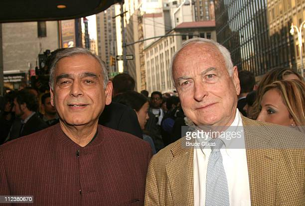 Ismail Merchant and James Ivory during Opening Night Of A R Rahman's Hit Musical 'Bombay Dreams' Arrivals and Curtain Call at Broadway Theater in New...