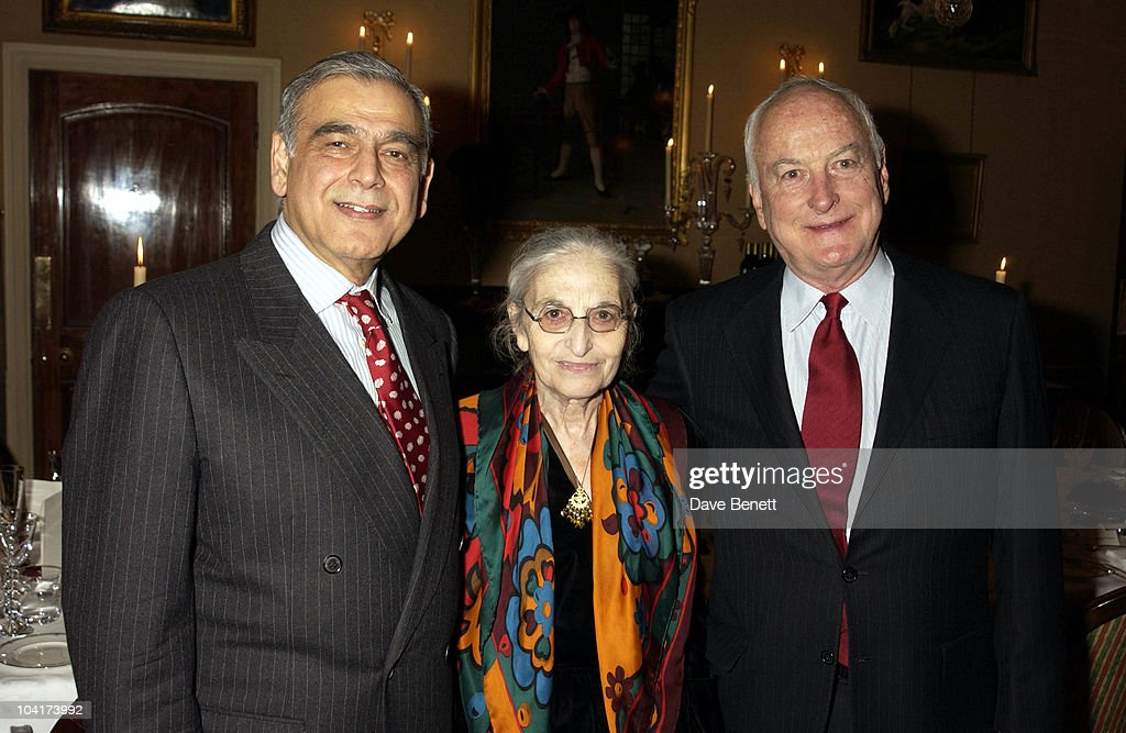 Ismail Merchant, Ruth & James Ivory, Merchant Ivory Celebrated Their 40th Year Of Collaboration And Also Their Bafta Award, By Having A Dinner At The Connaught Hotel For Many Of Their Friends