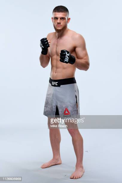 Ismail Naurdiev poses for a portrait during a UFC photo session on February 20 2019 in Prague Czech Republic