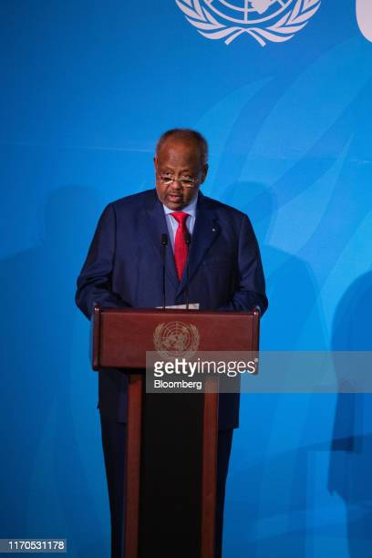 Ismail Omar Guelleh Djibouti's president speaks during the United Nations Climate Action Summit in New York US on Monday Sept 23 2019 Heads of state...