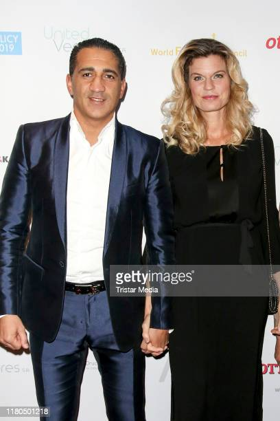 Ismail OzenOtto and his wife Janina OzenOtto during the World Future Council charity dinner on November 6 2019 in Hamburg Germany
