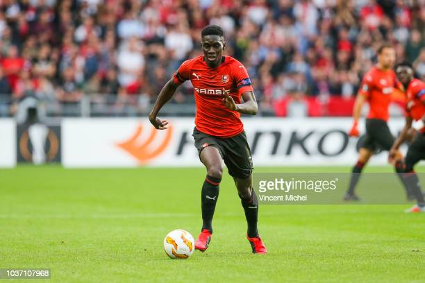 Ismaila Sarr of Rennes during the Europa League match between Rennes and Jablonec at Roazhon Park on September 20, 2018 in Rennes, France.