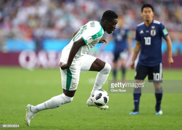 Ismaila Sarr of Senegal during the 2018 FIFA World Cup Russia group H match between Japan and Senegal at Ekaterinburg Arena on June 24 2018 in...