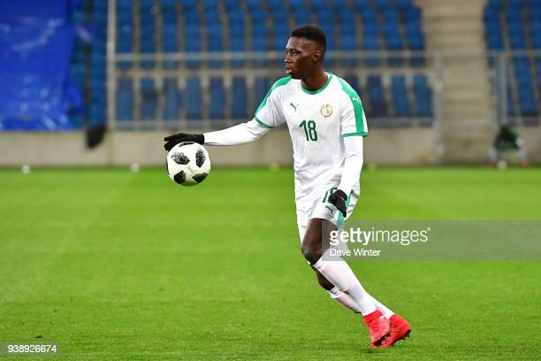 Ismaila Sarr of Senegal during the international friendly match match between Senegal and Bosnia Herzegovina on March 27 2018 in Le Havre France