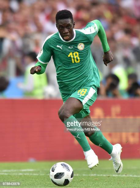 Ismaila Sarr of Senegal in action during the 2018 FIFA World Cup Russia group H match between Poland and Senegal at Spartak Stadium on June 19 2018...