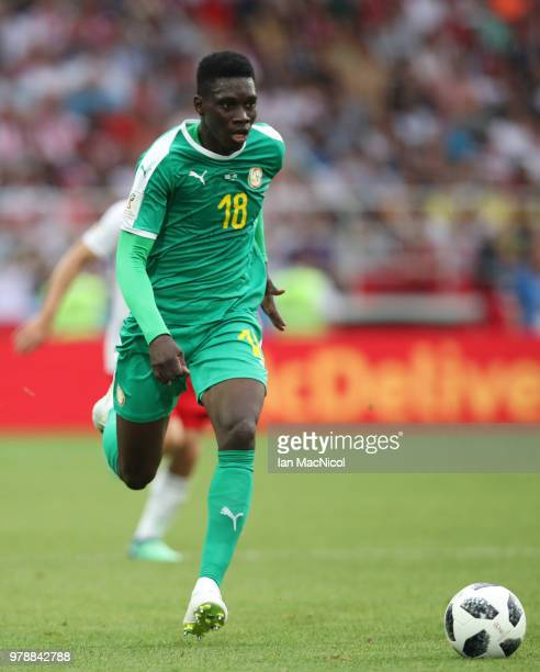 Ismaila Sarr of Senegal is seen during the 2018 FIFA World Cup Russia group H match between Poland and Senegal at Spartak Stadium on June 19 2018 in...