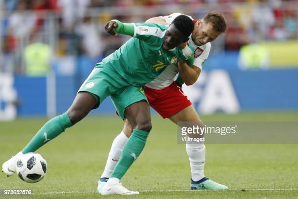 Ismaila Sarr of Senegal Maciej Rybus of Poland during the 2018 FIFA World Cup Russia group H match between Poland and Senegal at the Otkrytiye Arena...