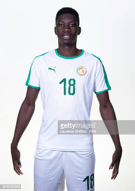 Ismaila Sarr of Senegal poses for a portrait during the official FIFA World Cup 2018 portrait session at the Team Hotel on June 13 2018 in Kaluga...