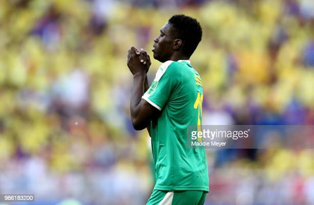 Ismaila Sarr of Senegal reacts during the 2018 FIFA World Cup Russia group H match between Senegal and Colombia at Samara Arena on June 28 2018 in...