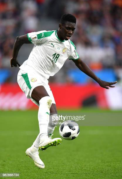 Ismaila Sarr of Senegal runs with the ball during the 2018 FIFA World Cup Russia group H match between Japan and Senegal at Ekaterinburg Arena on...
