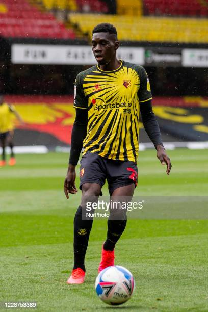 Ismaila Sarr of Watford during the Sky Bet Championship match between Watford and Luton Town at Vicarage Road Watford England on September 26 2020
