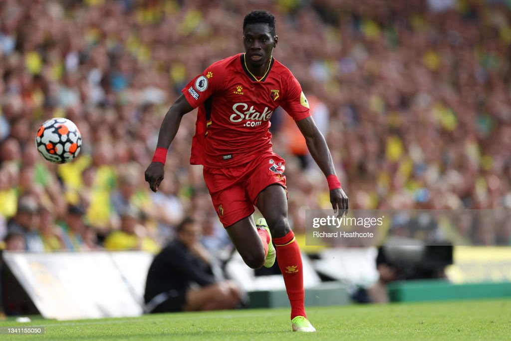 Ismaila Sarr of Watford in action during the Premier League match... News Photo - Getty Images