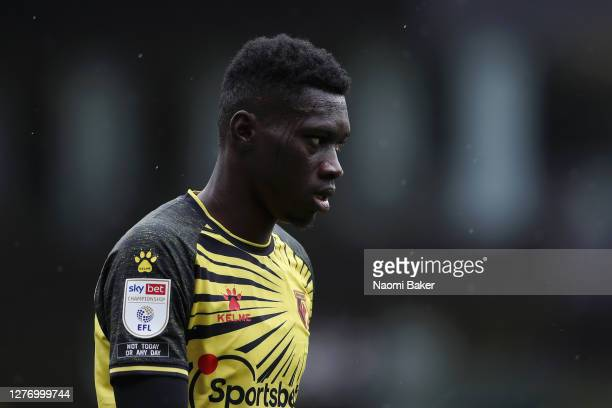 Ismaila Sarr of Watford looks on during the Sky Bet Championship match between Watford and Luton Town at Vicarage Road on September 26 2020 in...
