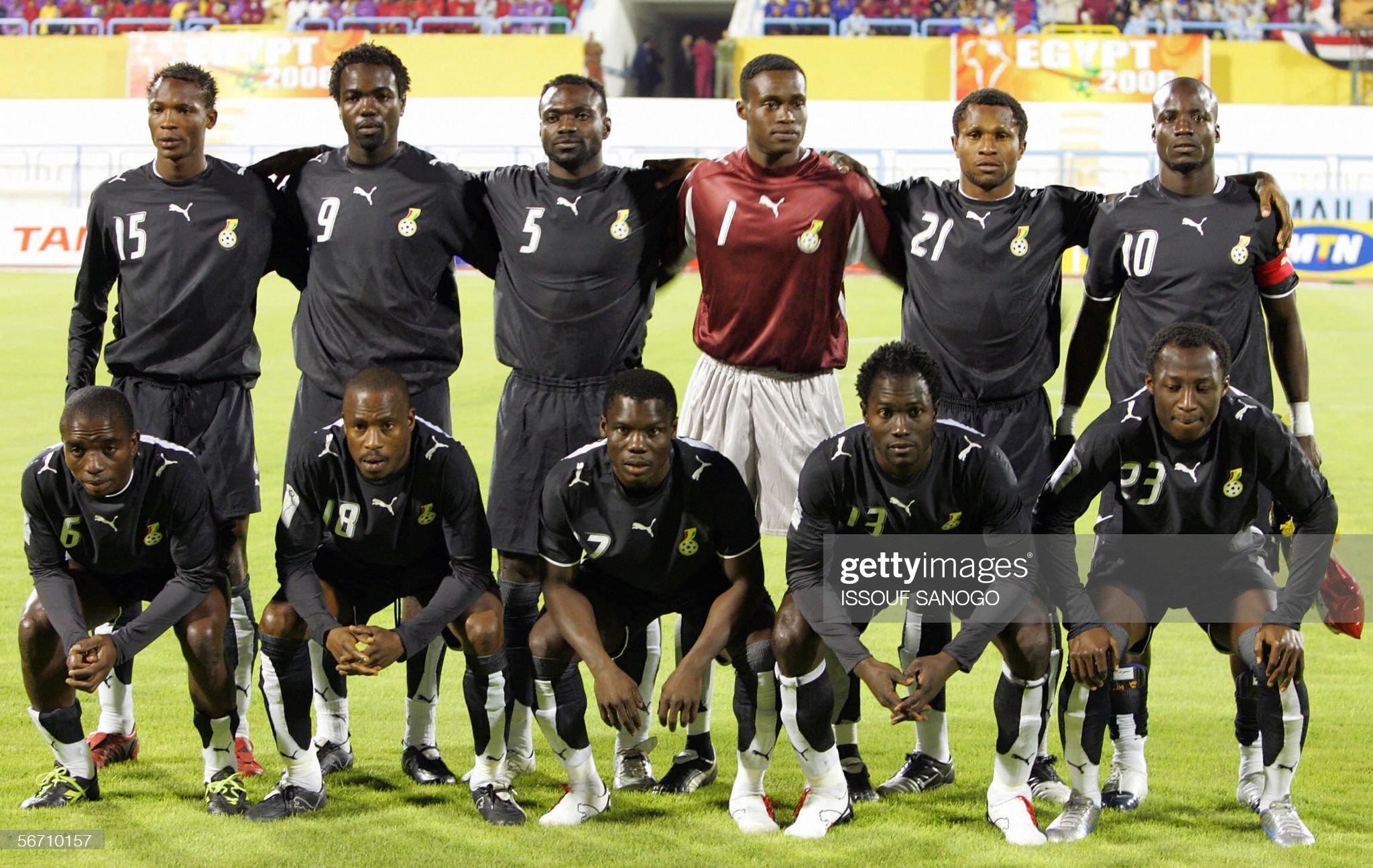 Ghanaian official line-up: Top (L-R) Gha : News Photo