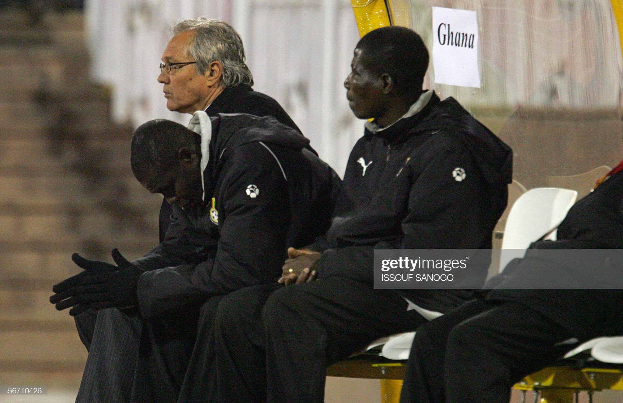 Serbian coach for Ghana's team Ratomir D : News Photo