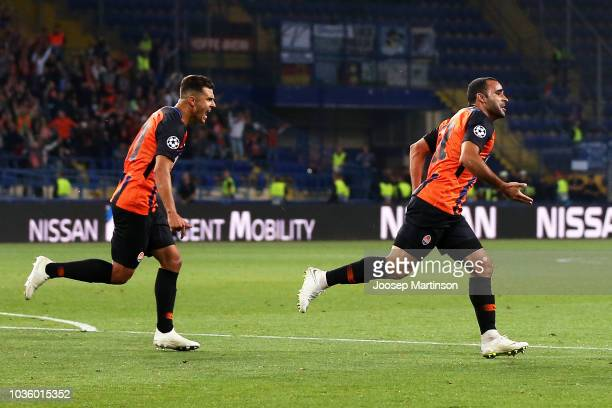 Ismaily of Shakhtar Donetsk celebrates after scoring his team's first goal during the Group F match of the UEFA Champions League between FC Shakhtar...