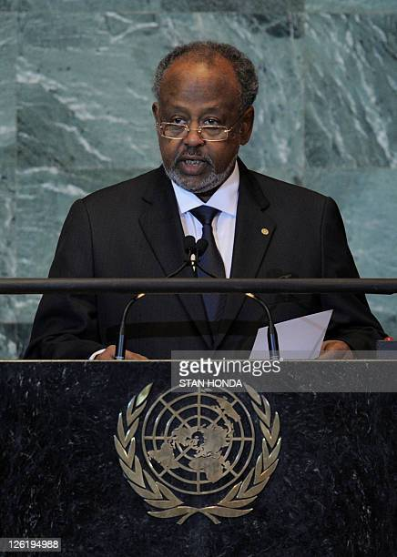 Ismaël Omar Guelleh President of Djibouti speaks during the United Nations General Assembly September 23 2011 at UN headquarters in New York AFP...