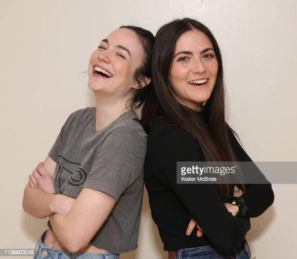 Ismenia Mendes and Isabelle Fuhrman in rehearsal with Red Bull Theater's AllFemale MACBETH at the Vineyard Theatre Rehearsal Studios on April 12 2019...