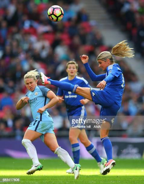 LONDON ENGLAND MAY 13 Isobel Christiansen of Manchester City Women and Andrine Hegerberg of Birmingham City Ladies during the SSE Women's FA Cup...