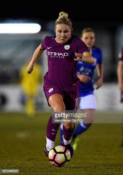 Isobel Christiansen of Manchester City Women during the WSL match between Birmingham City Ladies and Manchester City Women at Damson Park on February...