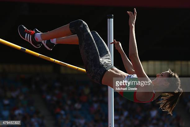 Isobel Pooley of AFD AC competes during the Women's High Jump during day two of the Sainsbury's British Championships at Birmingham Alexander Stadium...