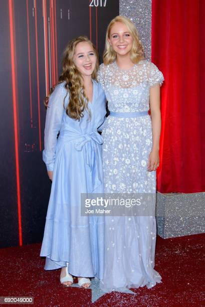 Isobel Steele and Eden TaylorDraper attend the British Soap Awards at The Lowry Theatre on June 3 2017 in Manchester England
