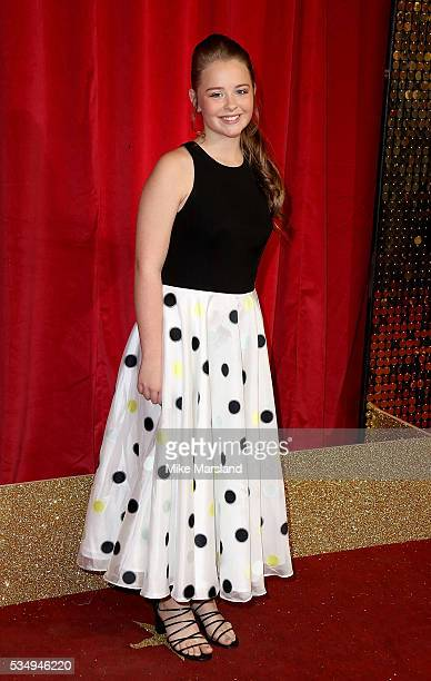 Isobel Steele attends the British Soap Awards 2016 at Hackney Empire on May 28 2016 in London England