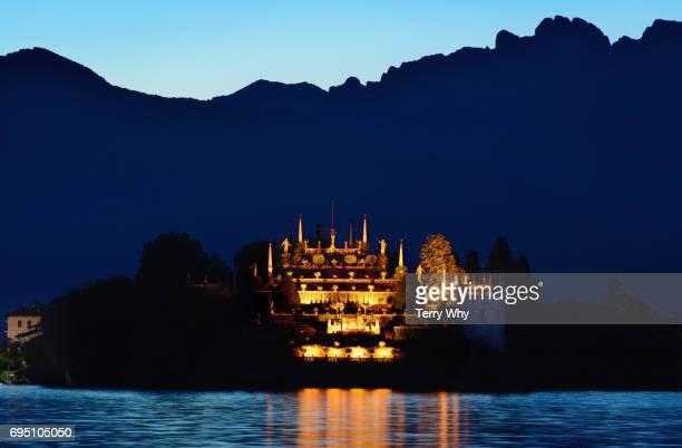 Isola Bella, at night.Lake Maggiore,Italy.