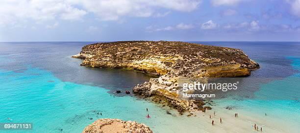 Isola dei Conigli (Rabbits Island) and beach