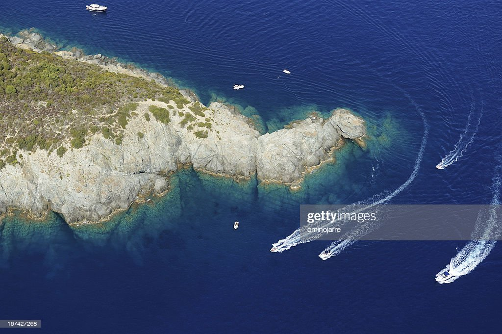 Isola d'Elba-Fetovaia cliffs : Stock Photo