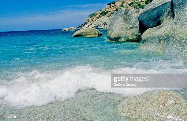 Isola d'Elba,scorcio di una spiaggia a Pomonte