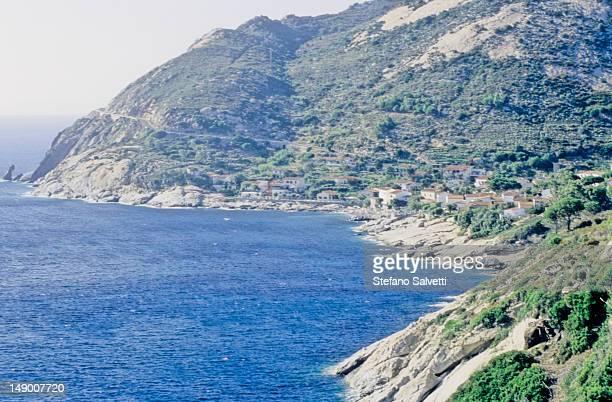 Isola d'Elba,tratto di costa presso Chiessi