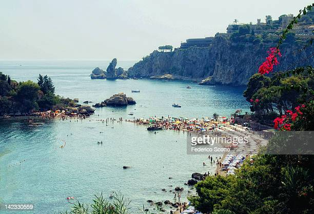 isolabella intaormina - catania stock photos and pictures