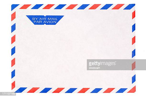 Isolated Airmail envelope on white