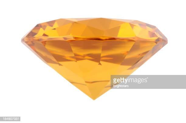 Diamant isolé amber
